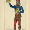 Timballier des Grenadiers de la garde des consuls. (1800-1804.) Gravure du temps collec[tion] de la Bibl[iothèque] imp[eriale].