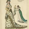 Zenaide Clary, psse. Joseph Bonaparte. Grand costume de cour. Mme. de Remusat dame du palais, presentant les offrandes, au sacre de Napoleon 1er. Costumes de 1804. D'ap[rès] Isabey etc.