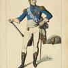 Monsieur frère du roi, d'après une gravure de 1814. XIXe siècle, costumes militaires, infanterie, France.