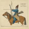Cosaque Baskir. 1813-14. Dessin de Schadow, a la Bibl[iothèque] Impériale.