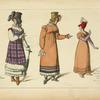 Modes Francaises. (1814-15) D'après des gravures de l'époque.