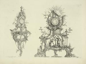 [Two clocks.]