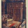 "The ""king's room,"" Oxburgh Hall, Norfolk. The property of Sir Henry Paston Bedinfield. With its furniture and accessories re-arranged to show its court cupboard, ""thrown"" chair, linenfold panelling, bedstead, and other appointments."