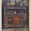 Carved and inlaid oak court cupboard. The property of Mrs. Henry Branston, The Friary, Newark.