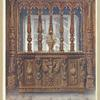 Henri Deux carved coffer, or bahut, ca. 1555. Donation Sauvageot, Musée du Louvre, Paris. Oak screen of the same French period, Victoria and Albert Museum, London.