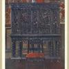 """The """"Rubens"""" cabinet--of ebony carved. Interior fittings inlaid and columns of tortoiseshell. From the royal collection at Windsor Castle. By permission of His Majesty."""