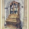 Inlaid walnut bombé bureau-cabinet. Parnham collection, Beaminster, ca. 1725.