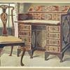 Walnut inlaid writing-table. The property of Sir George Donaldson.