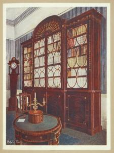 Inlaid mahogany break-front bo... Digital ID: 1642902. New York Public Library
