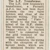 The l.f. transformer.