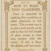 How to wash thin glass.
