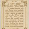 A hint when boiling potatoes.