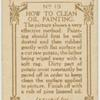 How to clean oil painting.