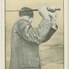 Arthur G. Havers: showing position of hands.  Top of swing (back view).