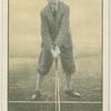 Arthur G. Havers: stance for driver or brassie against wind.
