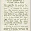 Arthur G. Havers: stance for driver or brassie down wind.