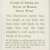 Arthur G. Havers: finish of swing for driver or brassie down wind.