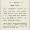 Arthur G. Havers: top of swing for iron shot.