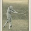 Arthur G. Havers: mashie shot. Finish of the swing.