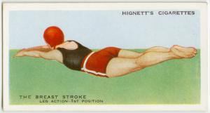 The breast stroke; leg action, first position.