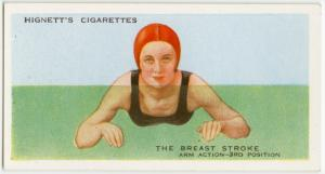 The breast stroke; arm action, third position.