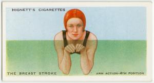 The breast stroke; arm action, fourth position.