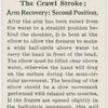 The crawl stroke; arm recovery: second position.