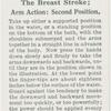 The breast stroke; arm action, second position.