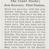 The crawl stroke; arm recovery: third position.