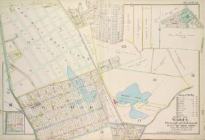 Part of Ward 4. [Map bound by Fox Hill Golf Links, Oak St, Virginia Ave, Clifton Ave, Pennsylvania Ave, Maryland Ave, Fingerboard Road, Clove Ave, Richmond Road, Vanderbilt Ave; Map bound by DeKalb, Danube Ave, Clove Ave, Richmond Road]