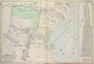 Part of Wards 4 & 5. [Map bound by Clarke Ave, Emmet Ave, Maple Ave, Lower Bay, Seaside Ave, Bridge Ave, Fresh Hills Road; Property of South New York Villa Site Co. - 1st St, Cortel You Ave, Fresh Kill Road, Richmond Ave, 21st St, Thompson Ave]