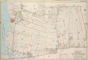 Part of Ward 5. [Map bound by Sharrotts Road, Shore Road, Wood Row Road, Foster or Rossville Ave, Amboy Road, The Staten Island Railway Co., Pier & Bulkhead Line]