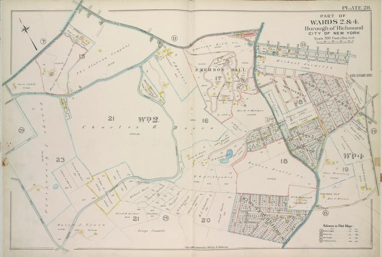Part of Wards 2 & 4. [Map bound by Richmond Turnpike, Clove Oak St, Richmond Road, Clove Ave, The Staten Island Railway Co., Old Town Road, Ocean Terrace, Todt Hill Road, Chestnut Ave]