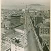San Francisco, looking down market street to bay
