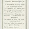 General Knowledge - A