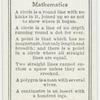 Mathematics.