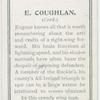 E. Coughlan. (Cork.)