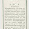E. Doyle. (Kilkenny)
