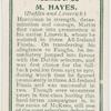 M Hayes. (Dublin and Limerick.)