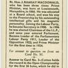 Rt. Hon. J. Ramsay MacDonald.