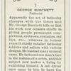 George Burchett, tattooist.