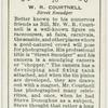 W.R. Courtnell, street smudger.