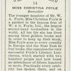 Miss Christina Foyle, bookseller.