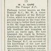 W.A. Gape, the tramp's K.C.