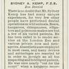 Sydney A. Kemp, F.Z.S., zoo dentist.