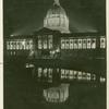 Night lights lend distinctive charm to the magnificent city hall at San Francisco, California