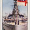 Hoisting the ensign.