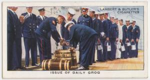 Issue of daily grog.