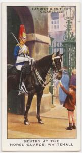 Sentry at the Horse Guards, Whitehall.