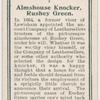 Almshouse knocker, Rushey Green.
